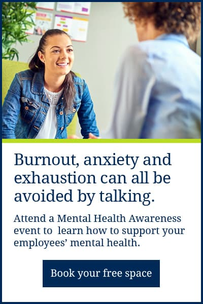 Burnout, anxiety and exhaustion can all be avoided by talking