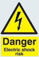 A warning sign - Danger Electric Shock Risk