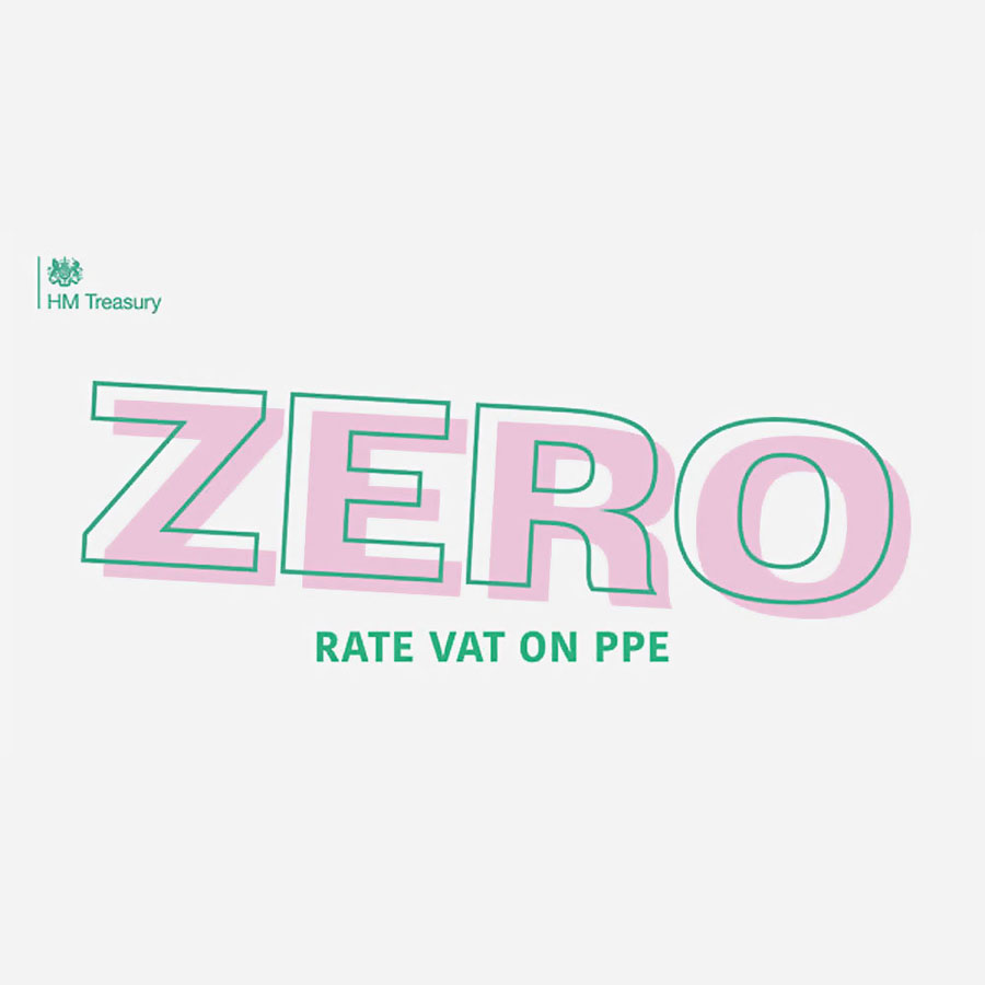 VAT on Personal Protected Equipment (PPE) is now ZERO