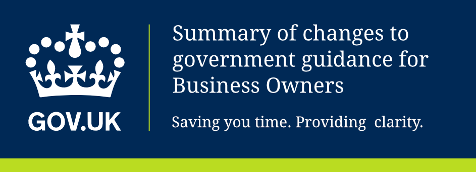 Download the latest summary of updated Government Guidance